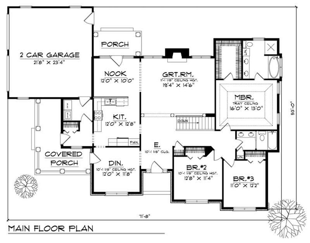 Large Images For House Plan 101 1349