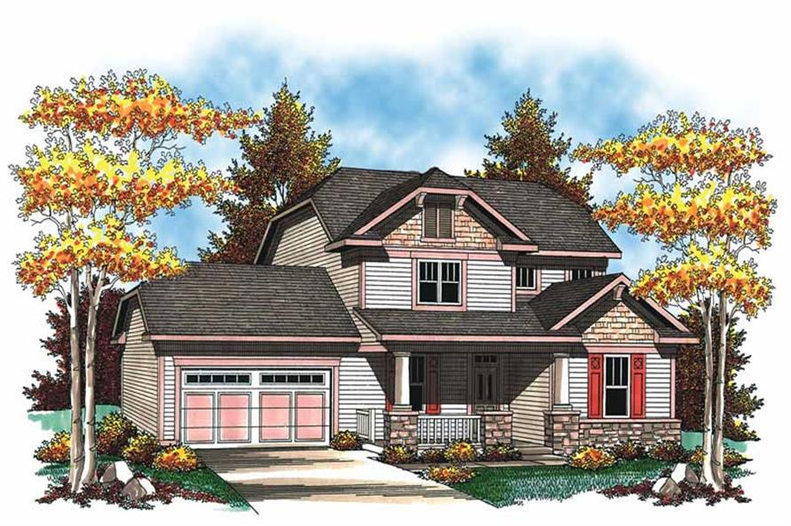 3-Bedroom, 2079 Sq Ft Craftsman Home Plan - 101-1350 - Main Exterior