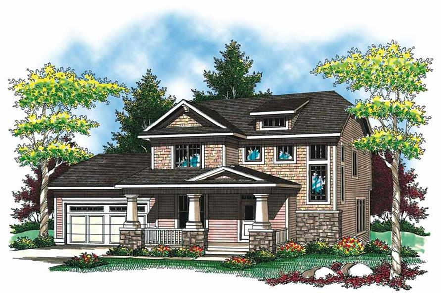 3-Bedroom, 1902 Sq Ft Craftsman House Plan - 101-1351 - Front Exterior