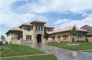 Luxury Tuscan home plan (ThePlanCollection: House Plan #101-1353)