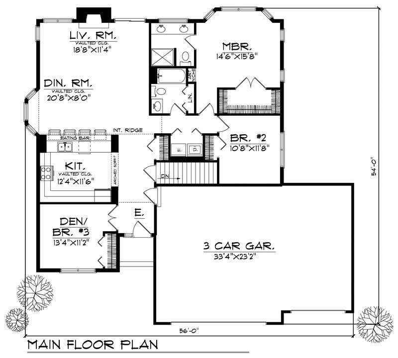 House Design 101: Ranch - Small Home With 2 Bdrms, 1490 Sq Ft