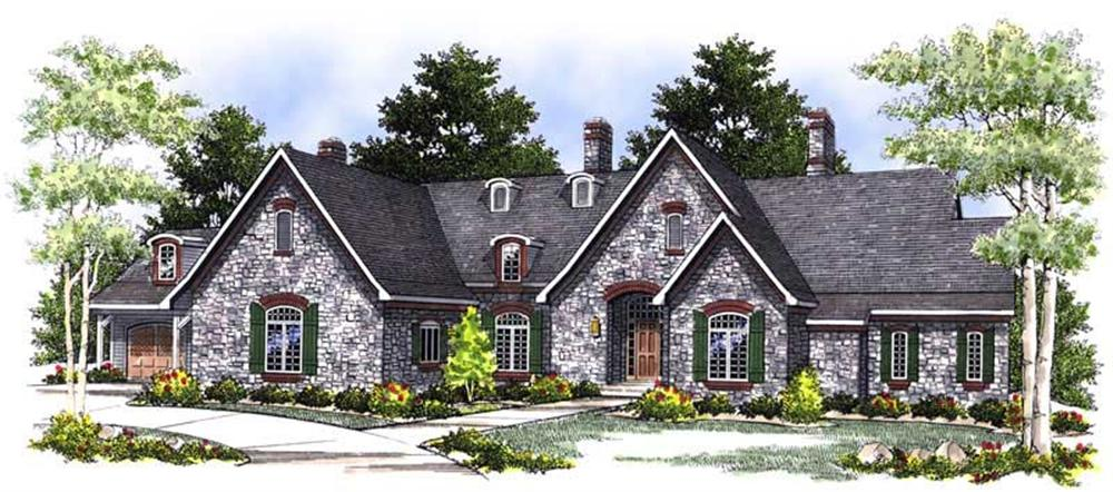 Front elevation of Country home (ThePlanCollection: House Plan #101-1361)