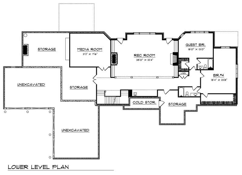 Country home with 5 bdrms 6311 sq ft floor plan 101 1361 for Country home plans with basement
