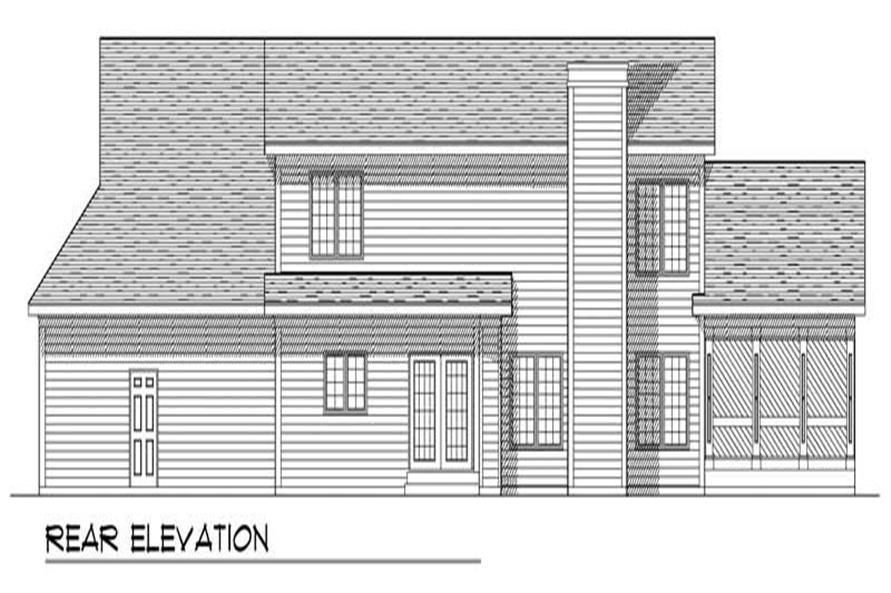 Home Plan Rear Elevation of this 3-Bedroom,2197 Sq Ft Plan -101-1364