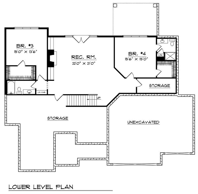 craftsman home with 4 bdrms 3786 sq ft house plan 101 1365
