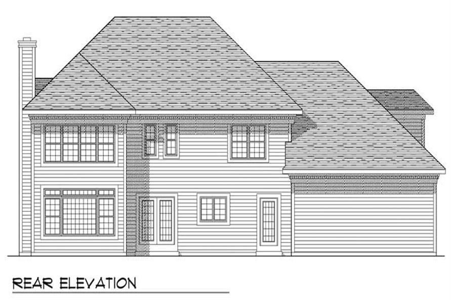 Home Plan Rear Elevation of this 3-Bedroom,2465 Sq Ft Plan -101-1366