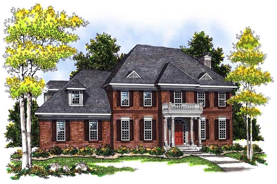 3-Bedroom, 2465 Sq Ft Colonial House Plan - 101-1366 - Front Exterior
