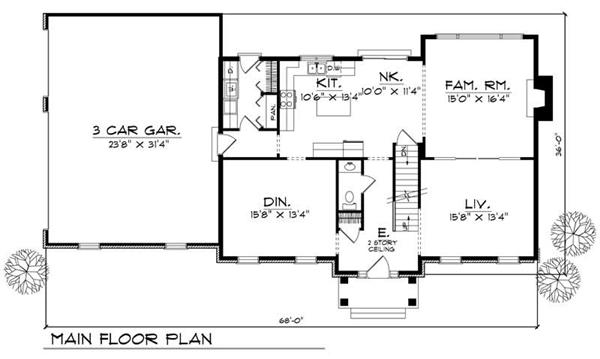 Traditional colonial home floor plans home design and style for Traditional house plans