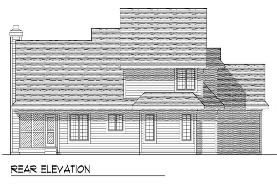 Home Plan Rear Elevation of this 4-Bedroom,2024 Sq Ft Plan -101-1368