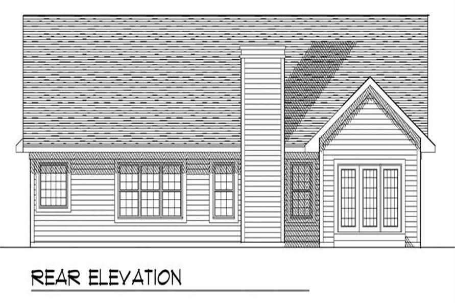 Home Plan Rear Elevation of this 3-Bedroom,1649 Sq Ft Plan -101-1369