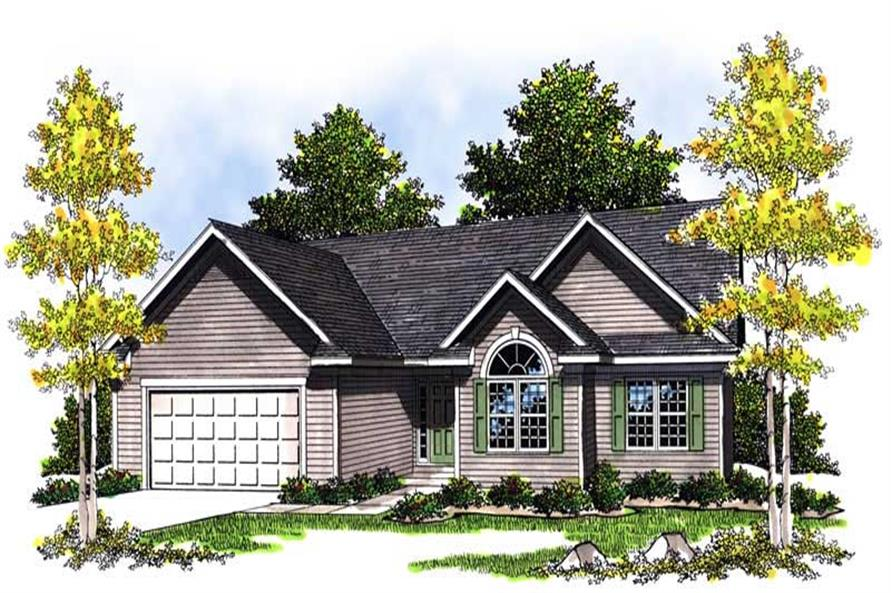 3-Bedroom, 1649 Sq Ft Country Home Plan - 101-1369 - Main Exterior