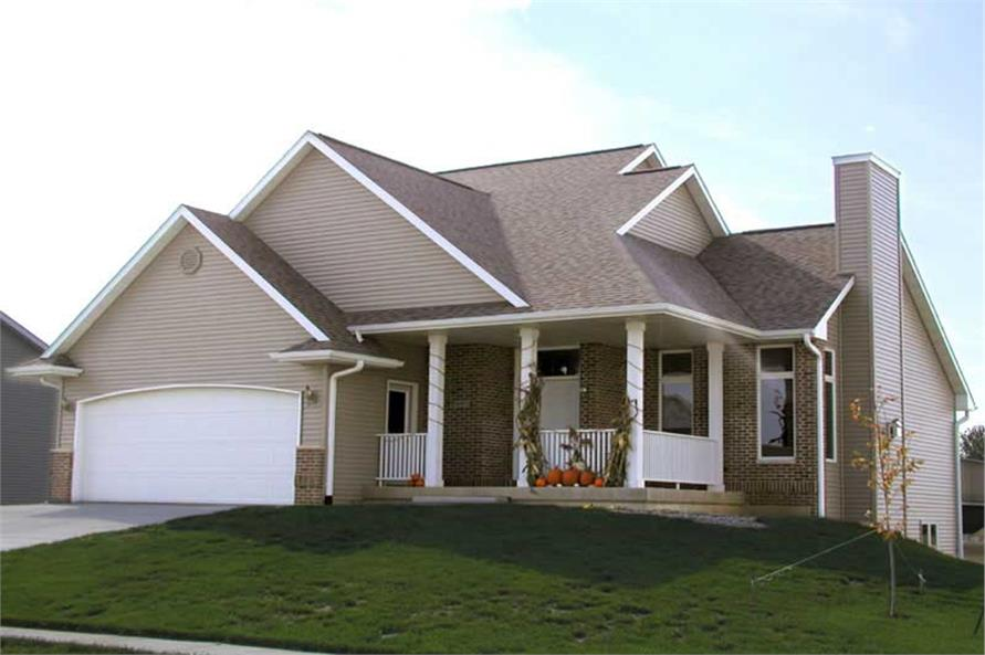 FRONT ELEVATION of this 3-Bedroom,1583 Sq Ft Plan -1583