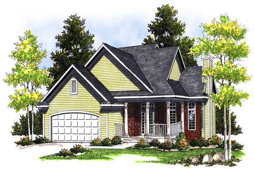 3-Bedroom, 1583 Sq Ft Ranch Home Plan - 101-1371 - Main Exterior