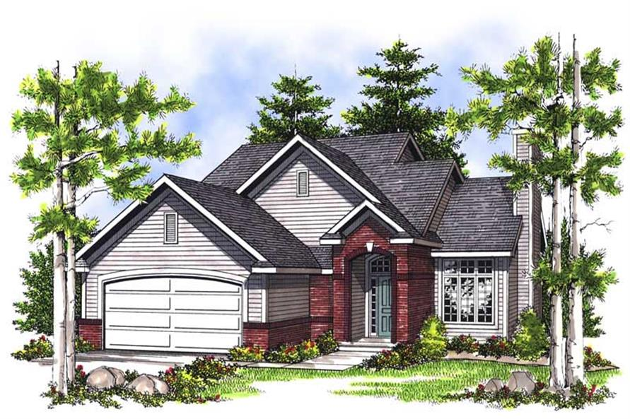 3-Bedroom, 1406 Sq Ft Craftsman House Plan - 101-1374 - Front Exterior