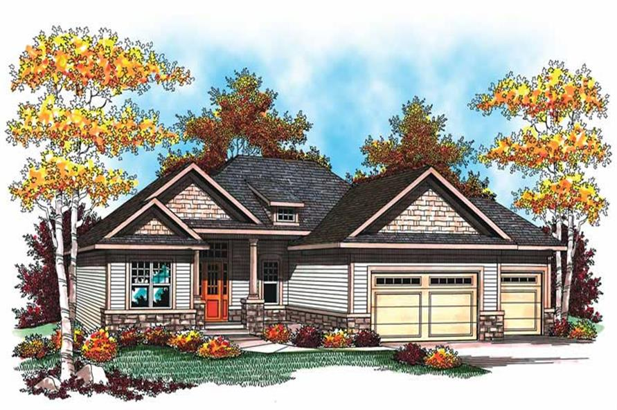 5-Bedroom, 2716 Sq Ft Ranch Home Plan - 101-1377 - Main Exterior
