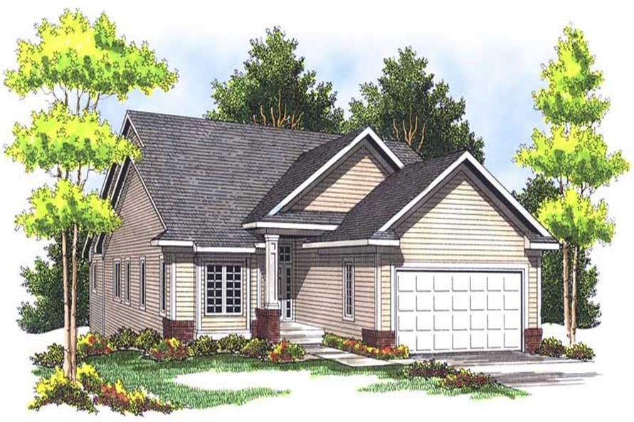 2-Bedroom, 1760 Sq Ft Bungalow Home Plan - 101-1380 - Main Exterior