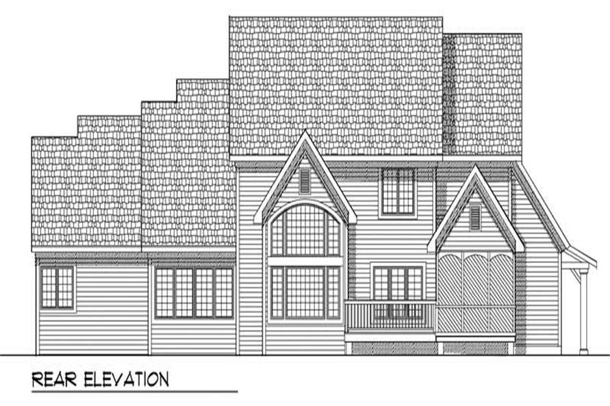 Home Plan Rear Elevation of this 4-Bedroom,3468 Sq Ft Plan -101-1382