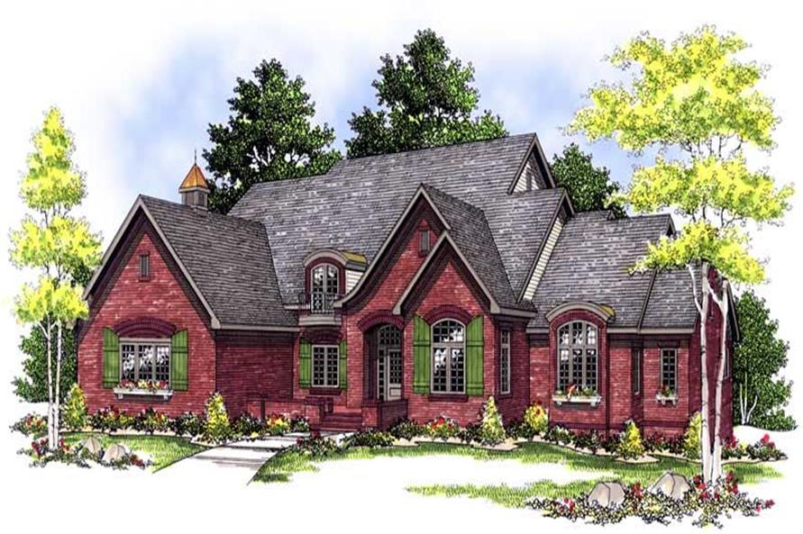 4-Bedroom, 3468 Sq Ft European Home Plan - 101-1382 - Main Exterior