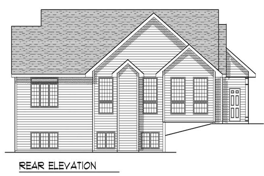 Home Plan Rear Elevation of this 3-Bedroom,2794 Sq Ft Plan -101-1383