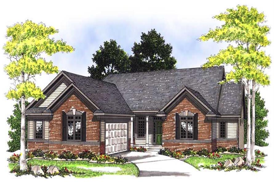3-Bedroom, 2794 Sq Ft Ranch House Plan - 101-1383 - Front Exterior