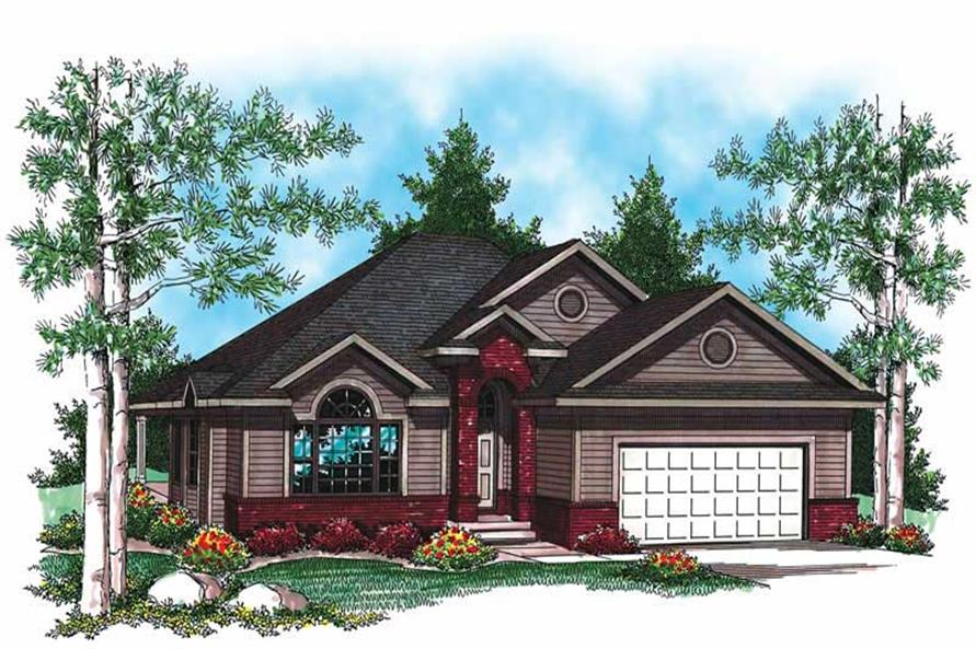 2-Bedroom, 1409 Sq Ft Small House Plans - 101-1385 - Front Exterior