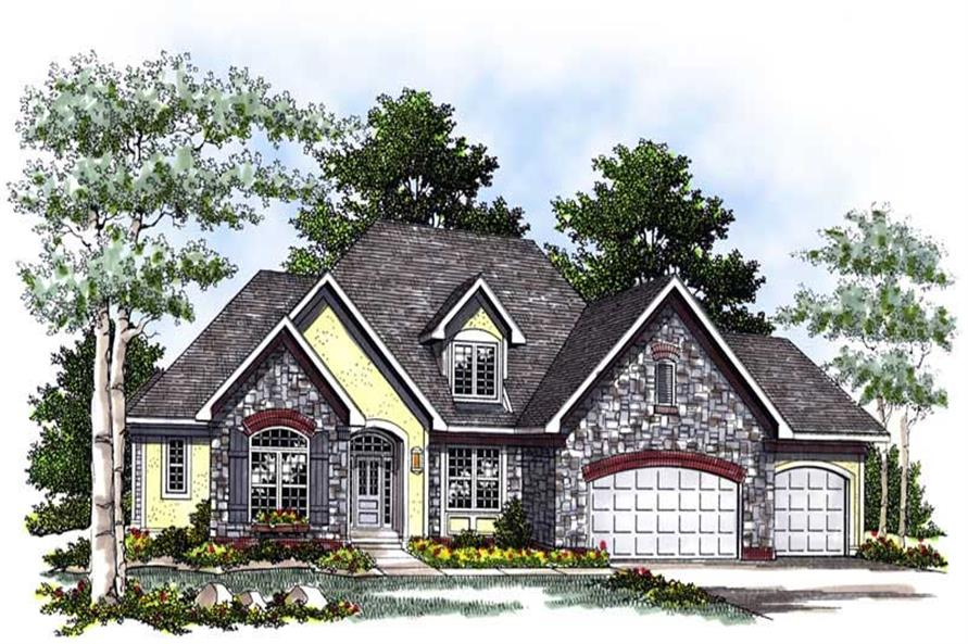 FRONT ELEVATION of this 4-Bedroom,3040 Sq Ft Plan -3040