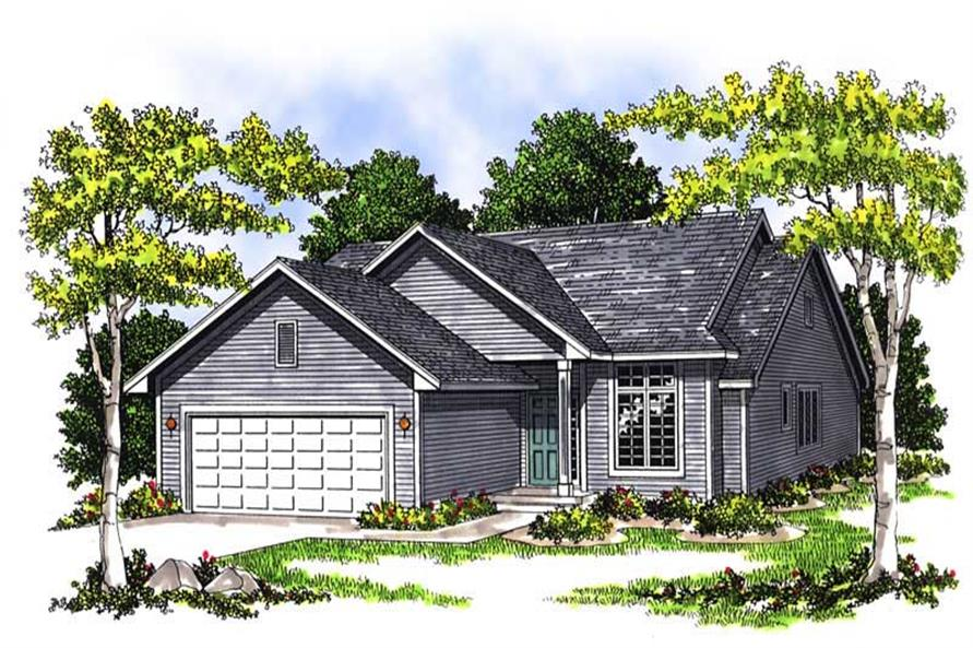 3-Bedroom, 1448 Sq Ft Ranch House Plan - 101-1388 - Front Exterior