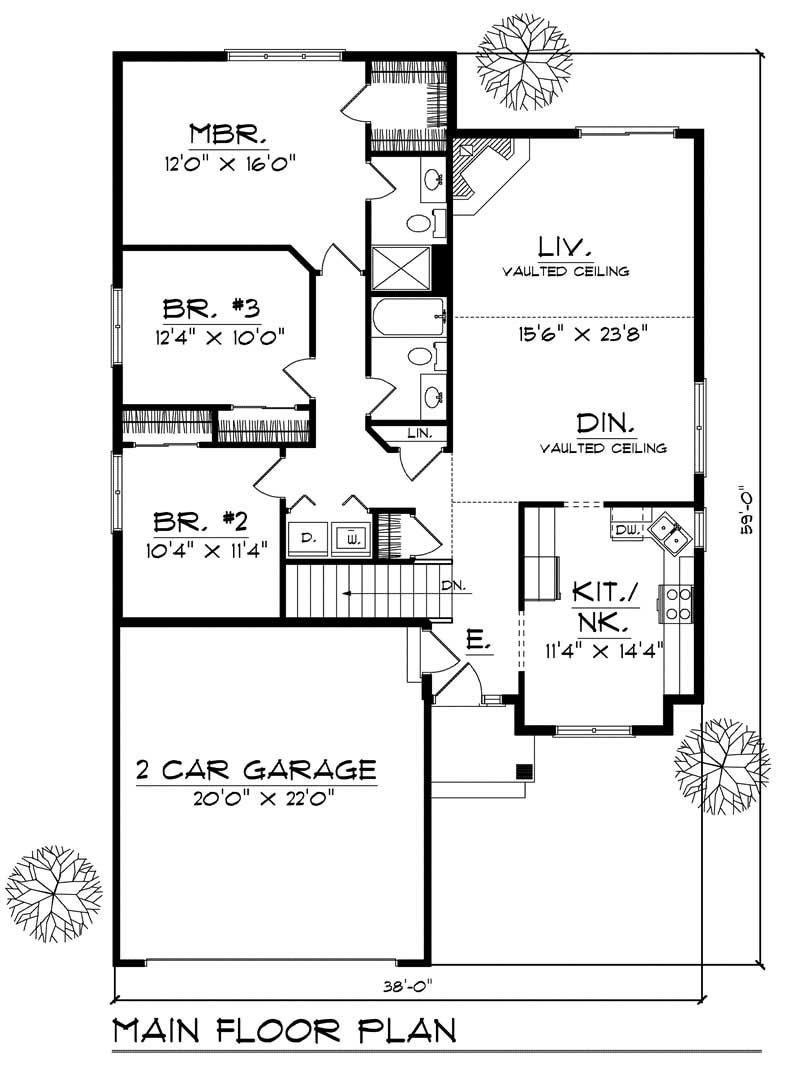 Ranch Small Home With 3 Bdrms 1448 Sq Ft House Plan