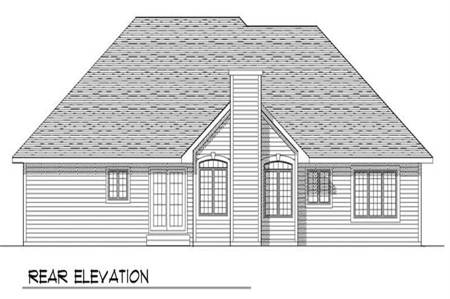 Home Plan Rear Elevation of this 3-Bedroom,1802 Sq Ft Plan -101-1390