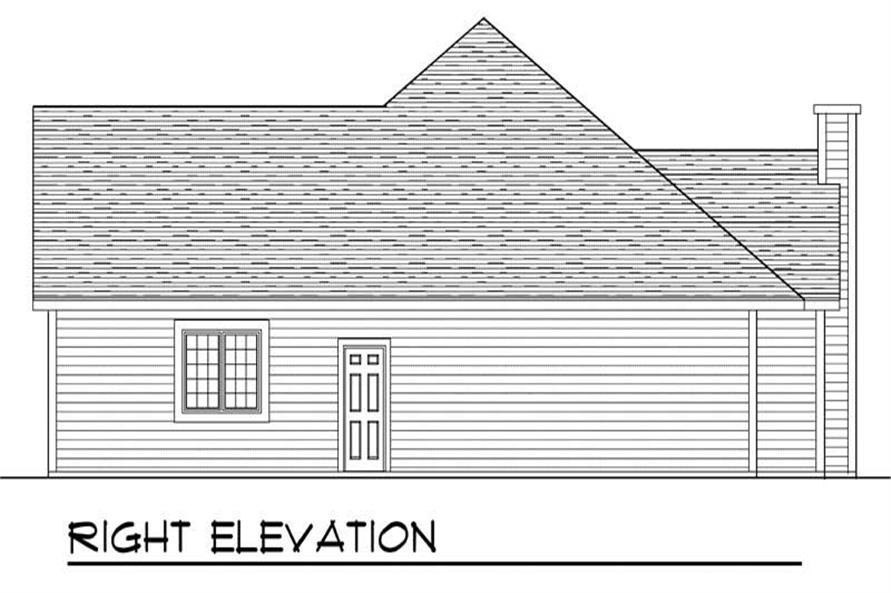 Home Plan Right Elevation of this 3-Bedroom,1802 Sq Ft Plan -101-1390