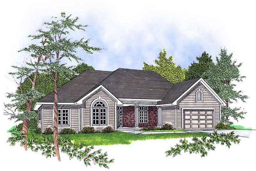 3-Bedroom, 1802 Sq Ft Ranch Home Plan - 101-1390 - Main Exterior