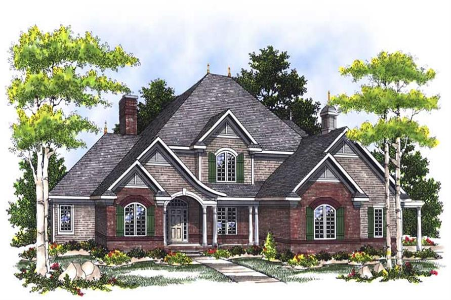 Home Plan Rendering of this 4-Bedroom,3259 Sq Ft Plan -101-1391