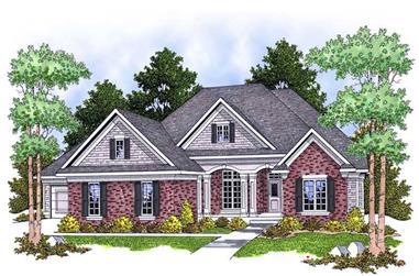 4-Bedroom, 3600 Sq Ft Ranch Home Plan - 101-1394 - Main Exterior