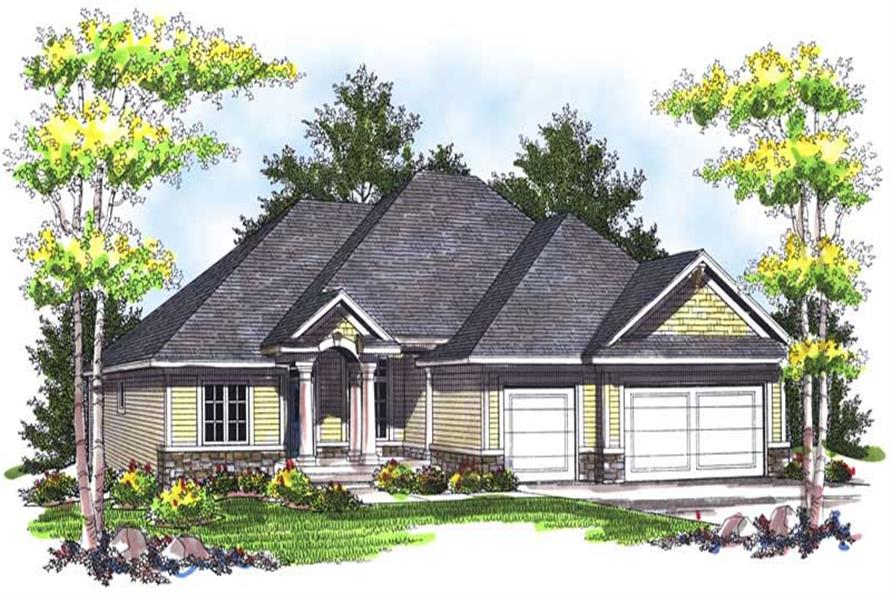 3-Bedroom, 1844 Sq Ft Ranch House Plan - 101-1400 - Front Exterior