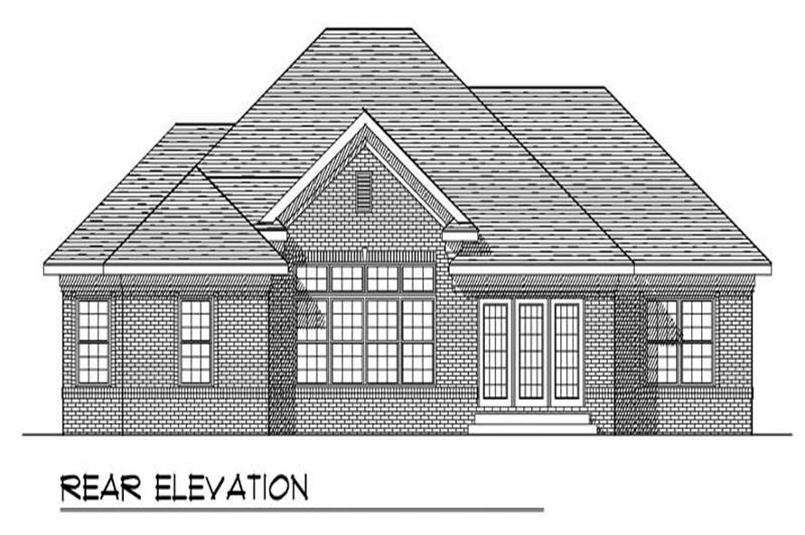 Home Plan Rear Elevation of this 3-Bedroom,2280 Sq Ft Plan -101-1404