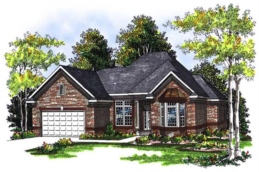 3-Bedroom, 2280 Sq Ft Ranch Home Plan - 101-1404 - Main Exterior