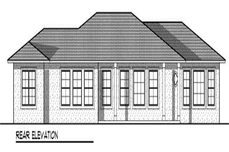 Home Plan Rear Elevation of this 3-Bedroom,2839 Sq Ft Plan -101-1407