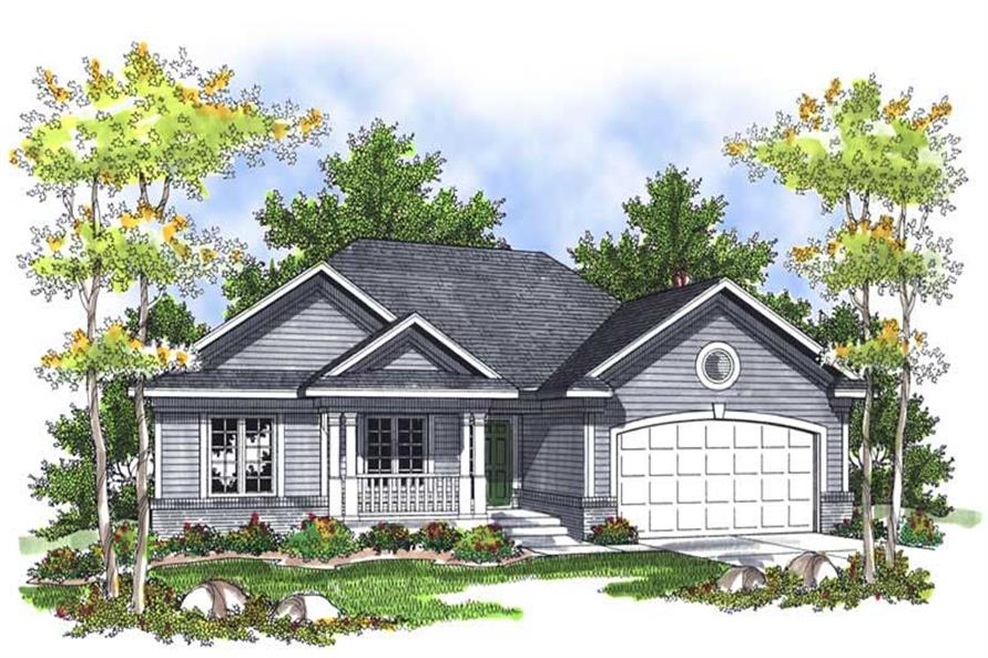 3-Bedroom, 1495 Sq Ft Country House Plan - 101-1419 - Front Exterior