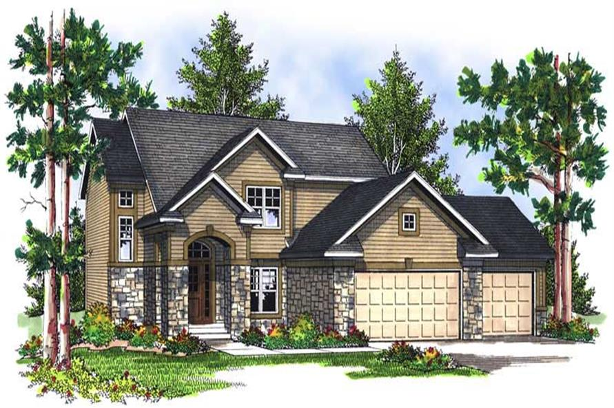 4-Bedroom, 2100 Sq Ft Craftsman House Plan - 101-1421 - Front Exterior