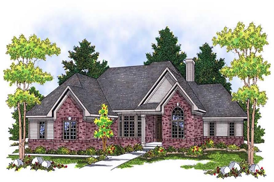 4-Bedroom, 3242 Sq Ft Country House Plan - 101-1426 - Front Exterior