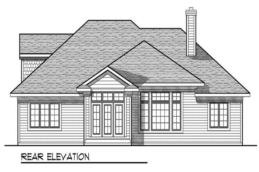 Home Plan Rear Elevation of this 3-Bedroom,1848 Sq Ft Plan -101-1431