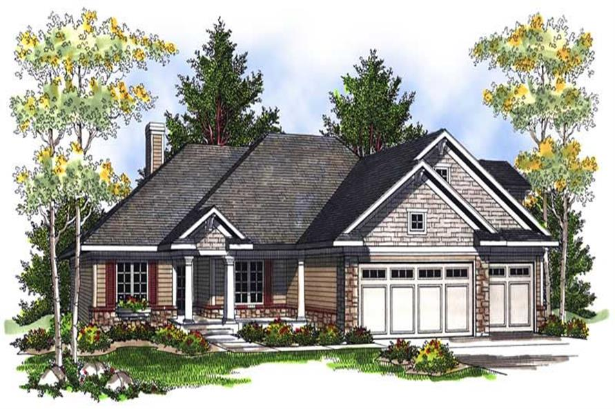 3-Bedroom, 1848 Sq Ft European Home Plan - 101-1431 - Main Exterior