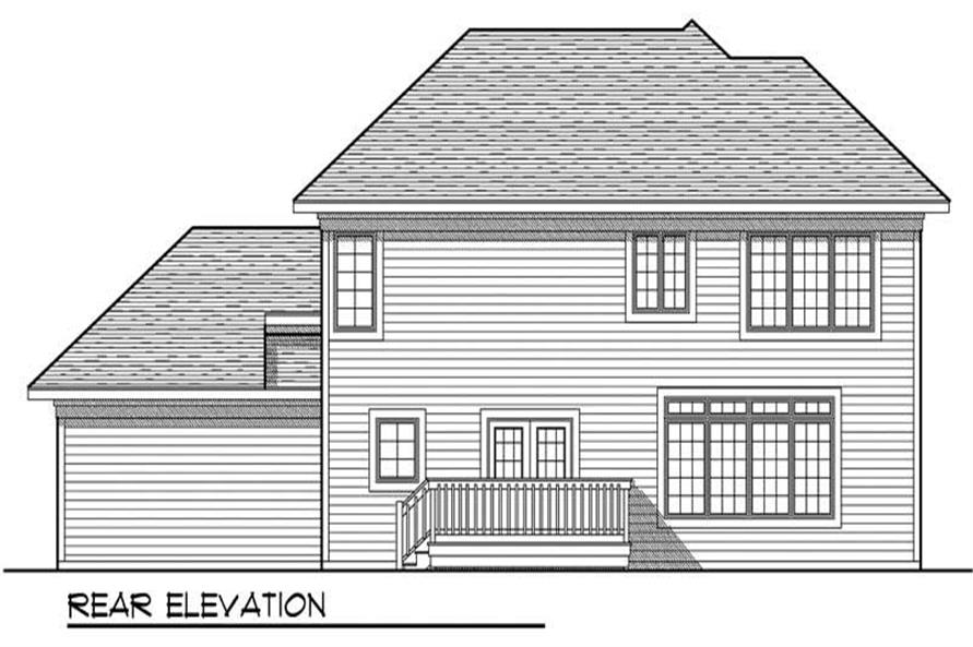 Home Plan Rear Elevation of this 4-Bedroom,2100 Sq Ft Plan -101-1433