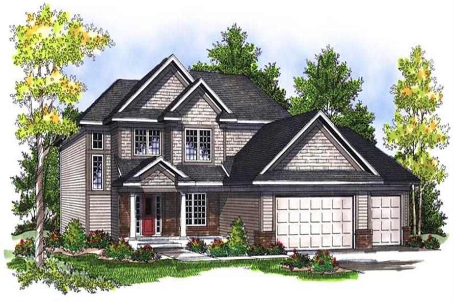 4-Bedroom, 2100 Sq Ft Country House Plan - 101-1433 - Front Exterior