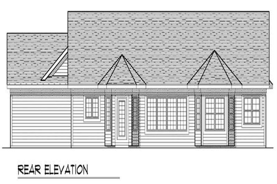 Home Plan Rear Elevation of this 3-Bedroom,1852 Sq Ft Plan -101-1434