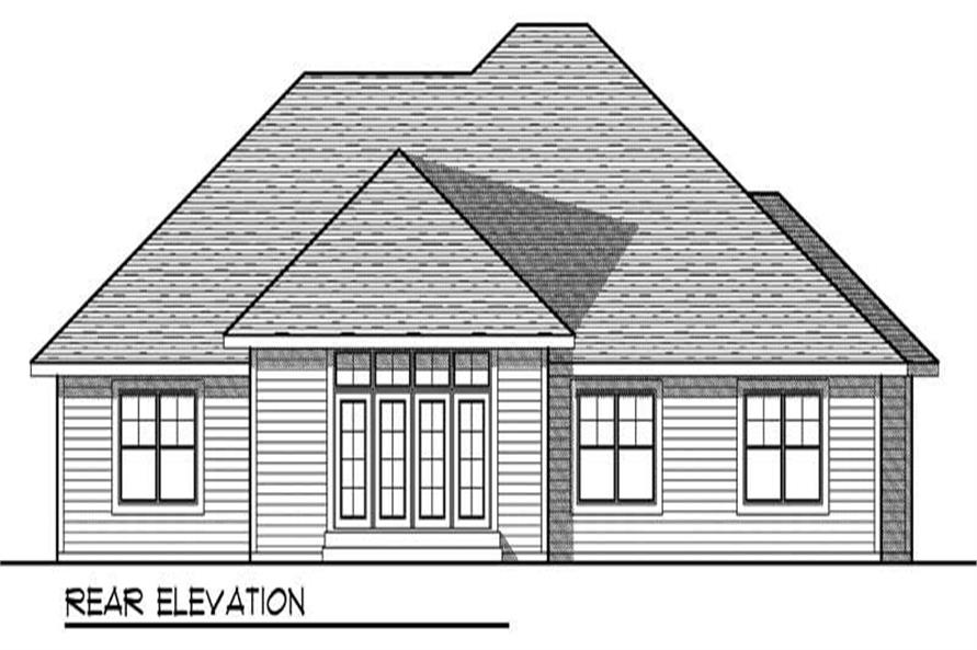 Home Plan Rear Elevation of this 3-Bedroom,2420 Sq Ft Plan -101-1436