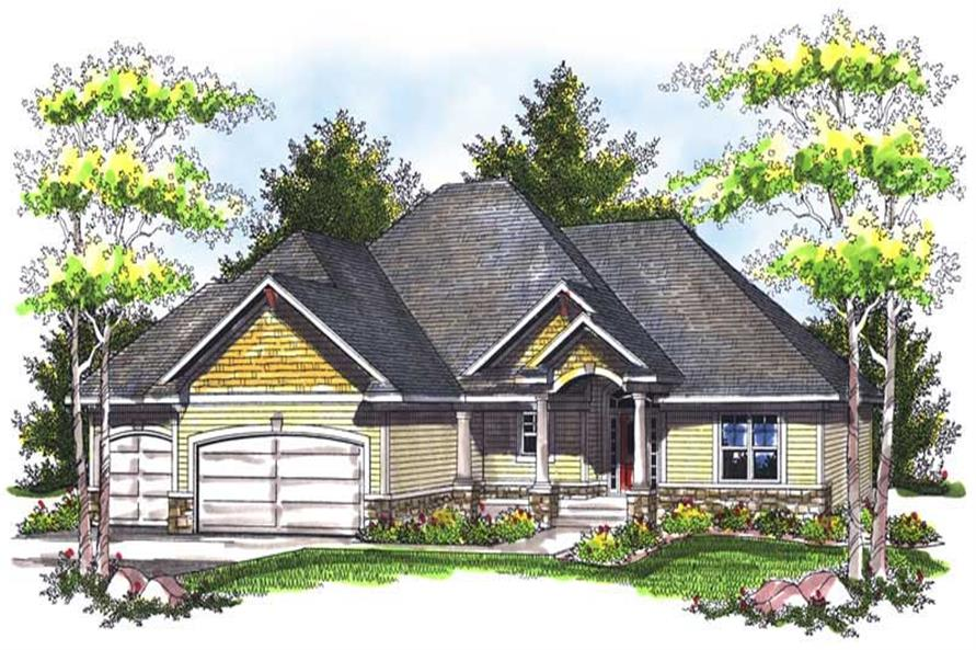 3-Bedroom, 2420 Sq Ft Ranch Home Plan - 101-1436 - Main Exterior
