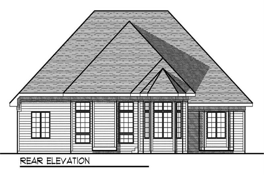 Home Plan Rear Elevation of this 3-Bedroom,2067 Sq Ft Plan -101-1437