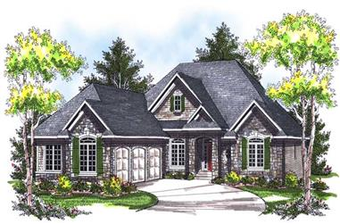 3-Bedroom, 2067 Sq Ft Ranch House Plan - 101-1437 - Front Exterior