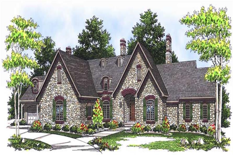 5-Bedroom, 5270 Sq Ft Country House Plan - 101-1438 - Front Exterior